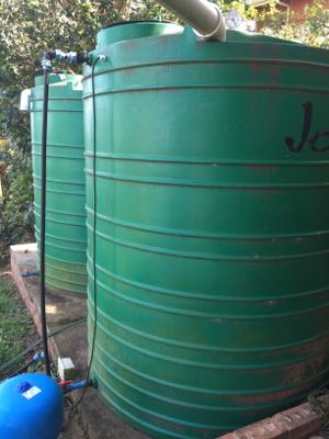 Durban Household rainwater harvesting system in 2014