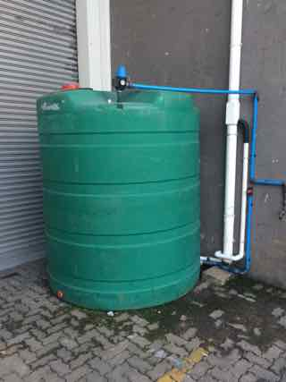 5000l rainwater tank with Inline rainwater filter