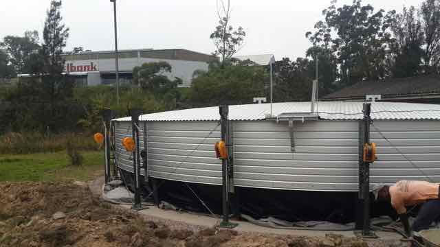 Rainwater tank construction