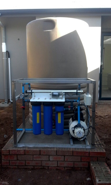 Rainwater purification unit