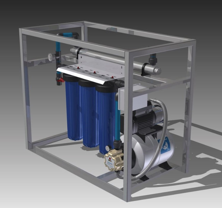 Waterpurification with Grundfos Frame