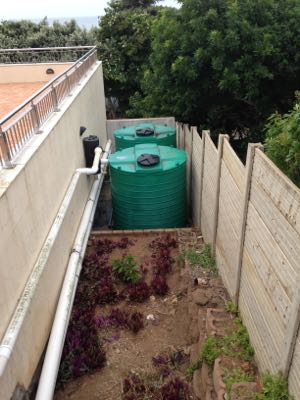 Rainwater harvesting off a parking lot