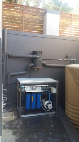 Rainwater Harvesting system in Westbrook